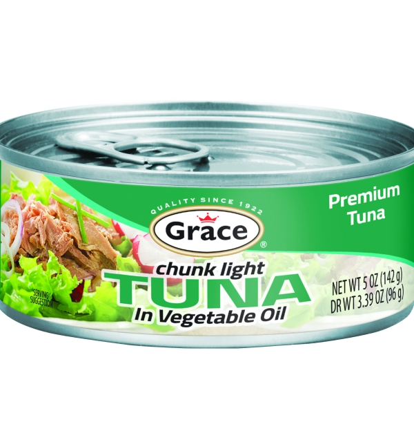 Grace Chunk Light Tuna in Vegetable Oil 142g