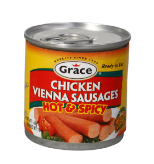 Grace Vienna Sausages: Chicken Hot & Spicy