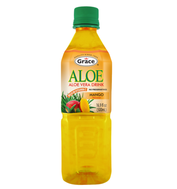 Grace Aloe Vera Drink Mango 500ml