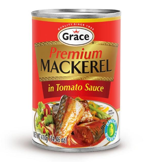 Grace Premium Mackerel in Tomato Sauce 14oz