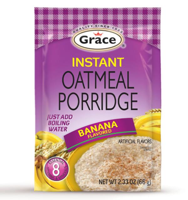 Grace Instant Oatmeal Banana Porridge