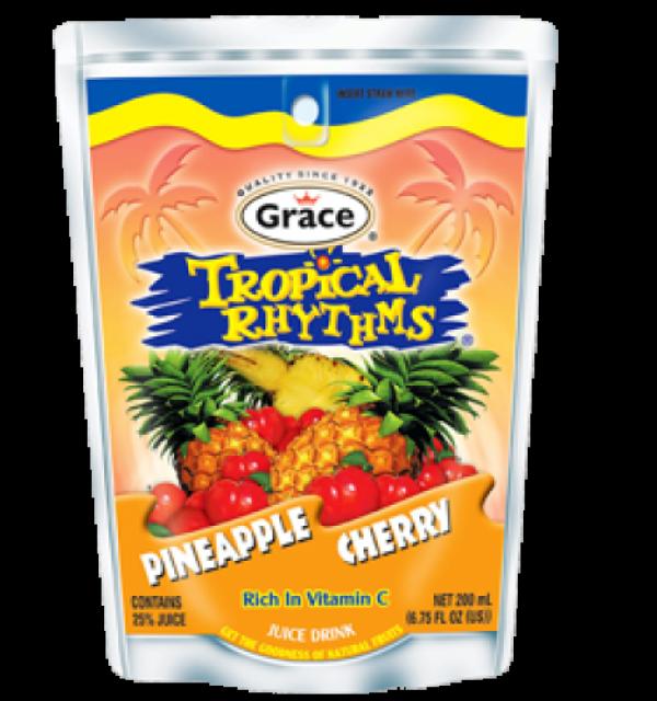 Grace Tropical Rhythms Pineapple Cherry Pouch
