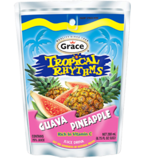 Grace Tropical Rhythms Guava Pineapple Pouch