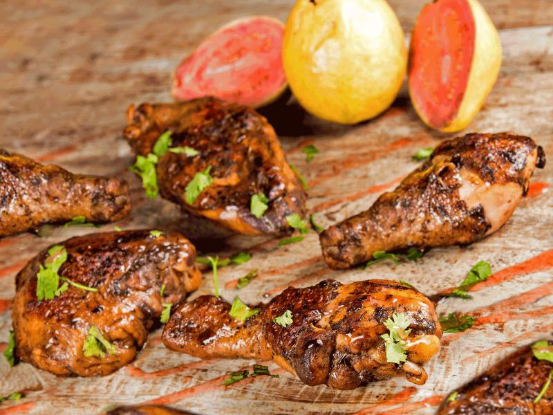 Baked Chicken with Grace Guava Glaze