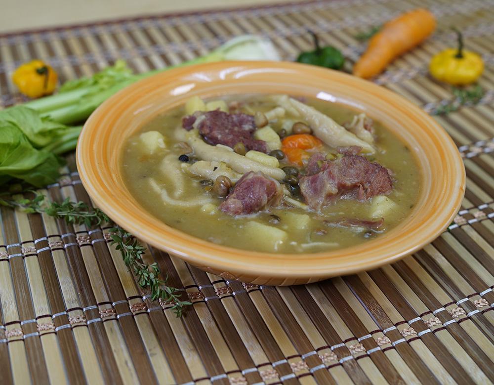 Ham Bone & Gungo Peas Soup