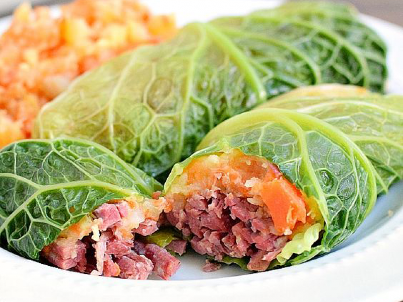 Corned Beef Cabbage Roll