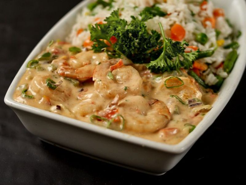 Shrimp in Sweet Coconut Sauce