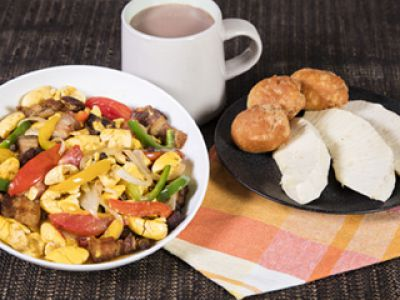 Ackee and Corned Pork # 1