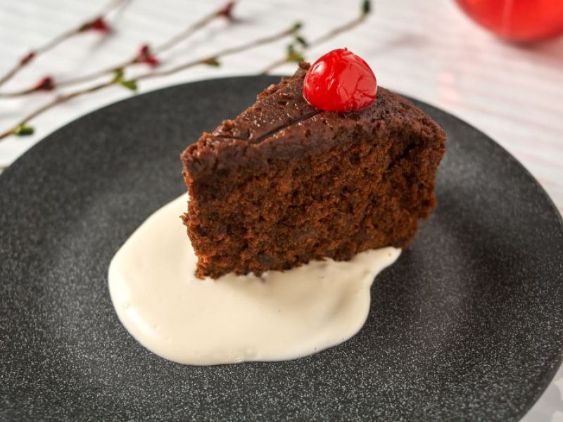 Christmas Pudding with Rum Butter Sauce