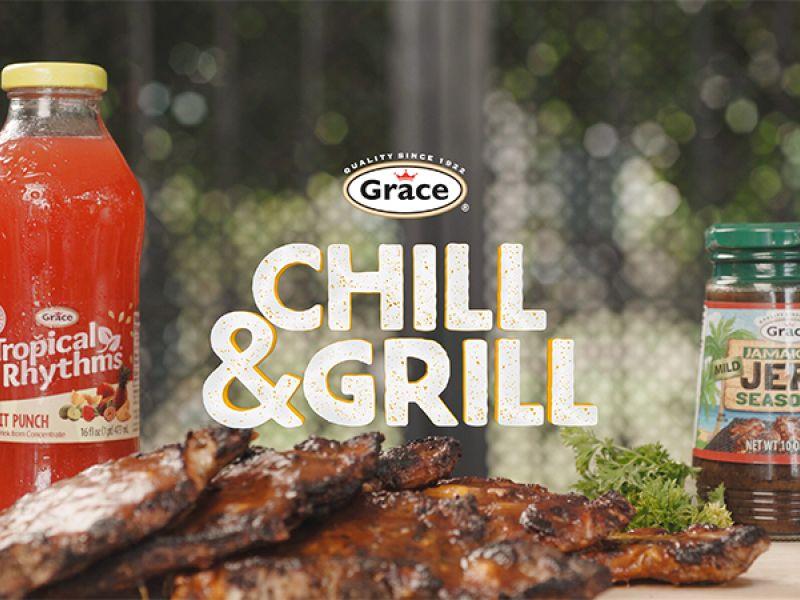 Grace Jerk Mango BBQ Pork Chops