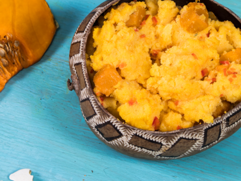 Turn Cornmeal with Pumpkin