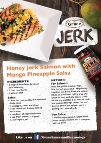 Honey Jerk Salmon with Mango Pineapple Salsa