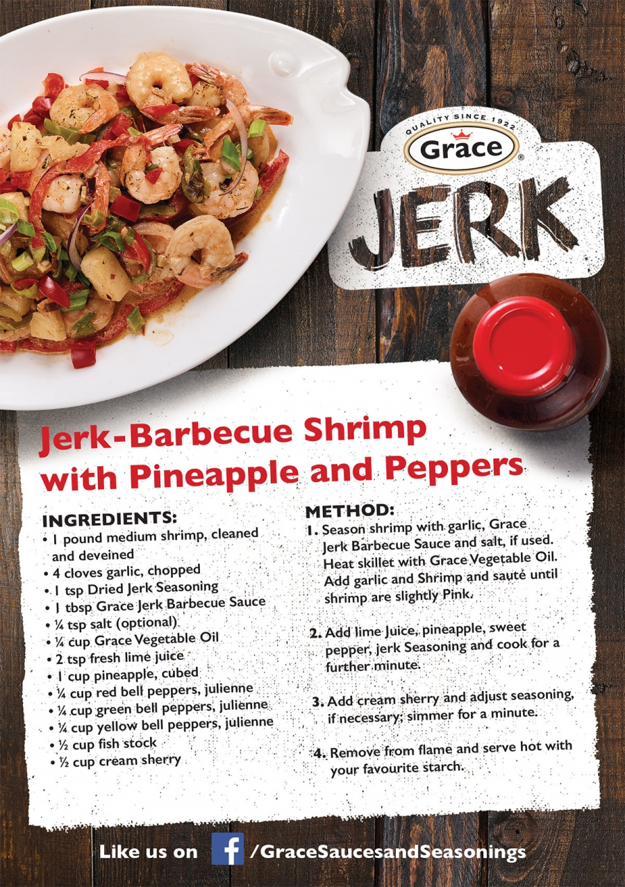 Jerk-Barbecue Shrimp with Pineapple and Peppers